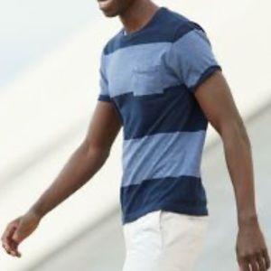 J Crew Slim Fit Chest Pocket Short Sleeve Stripe T